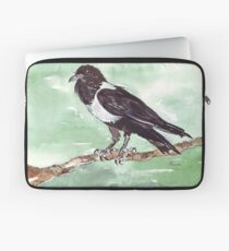 Domino, the Pied Crow (Corvus albus) Laptop Sleeve