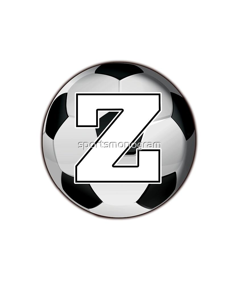 Monogram Z Black and White Soccer Ball by sportsmonogram