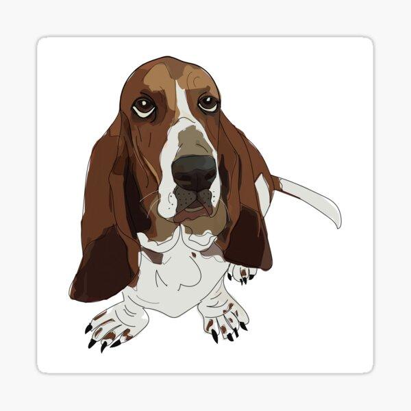 Basset Hound Dog Sticker