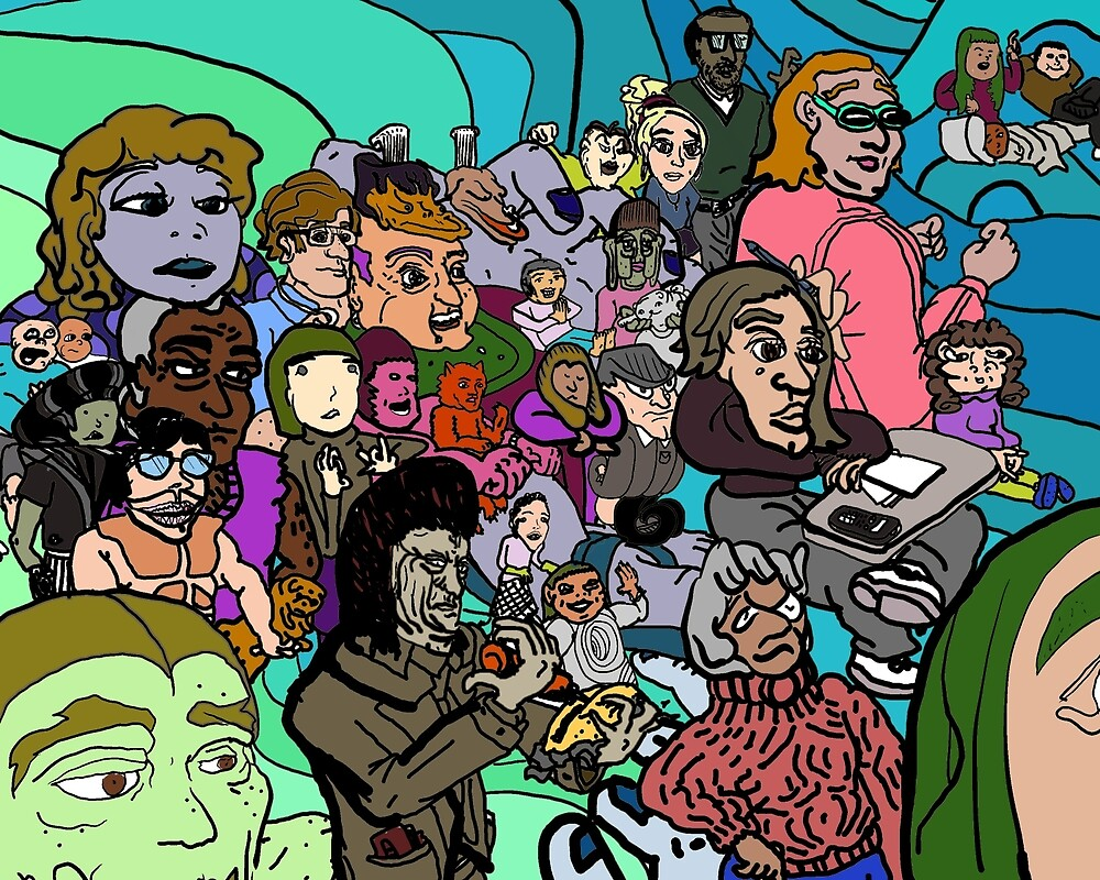 Unreal People (a whole slew of them) by jerrydrewthis