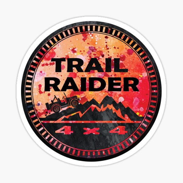 Jeep Trail Raider Sticker