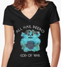 All Hail Beebo Women's Fitted V-Neck T-Shirt