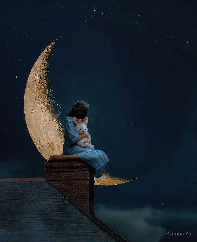 The moon did not have to be full for us to love it by Katrina Yu