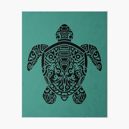 Tribal Turtle Art Board Print