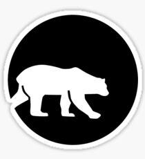 Polar bear moon Sticker