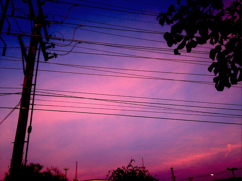 Aesthetic Skyline with Powerlines by coopacow