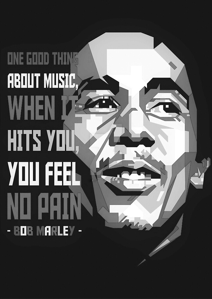 Bob Qoute Marley Quote Art Print Best Sel ler by gabrielr261
