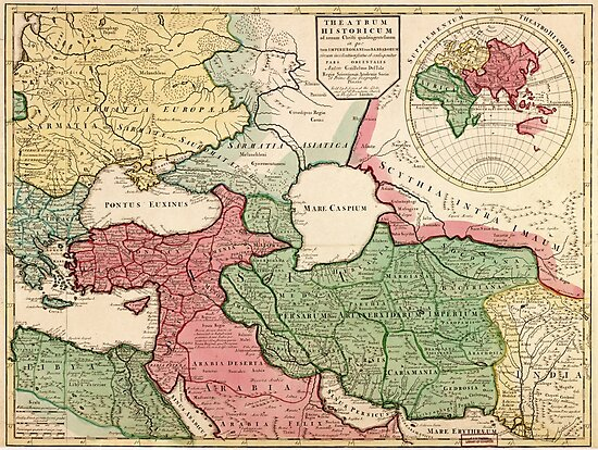 Map of the Middle East (1712) by allhistory