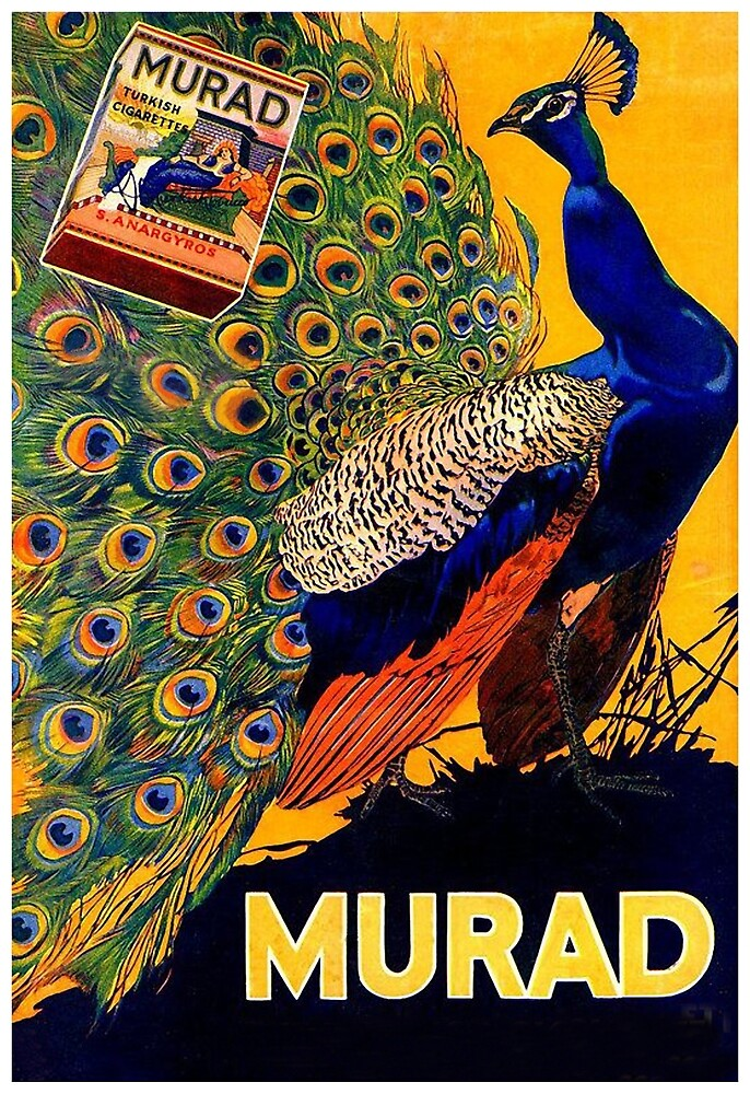 Peacock Vintage Advertisement Poster by vintagevivian