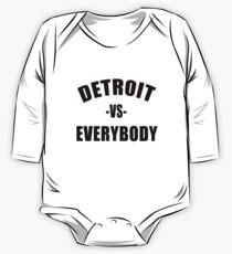 DETROIT vs EVERYBODY Long Sleeve Baby One-Piece