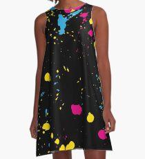 Love the 80s Paint Splash A-Line Dress
