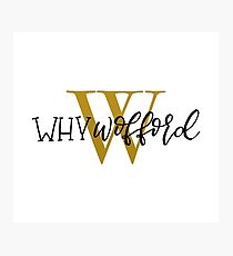 Why Wofford Photographic Print