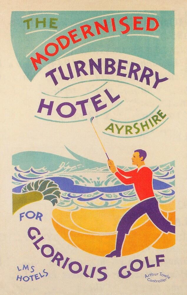 Turnberry, Scotland Vintage Travel Golf Poster by vintagevivian