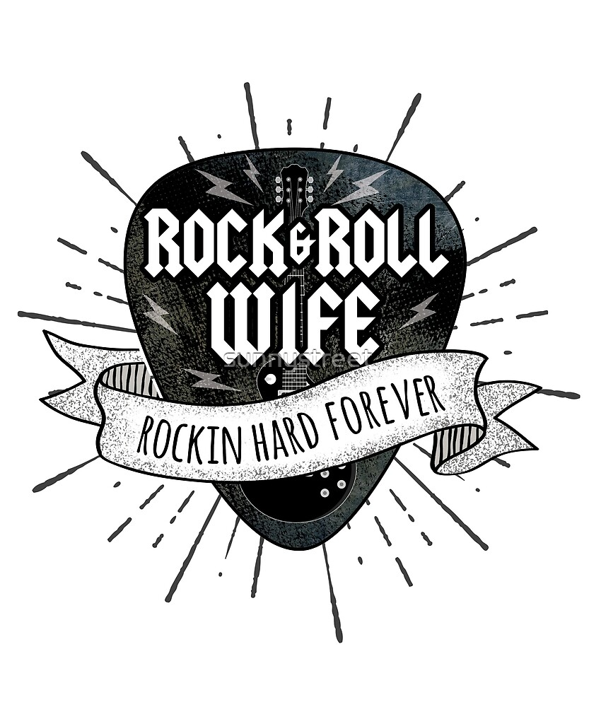 Rock and Roll Wife Grunge Guitar Pick by SunnyStreet