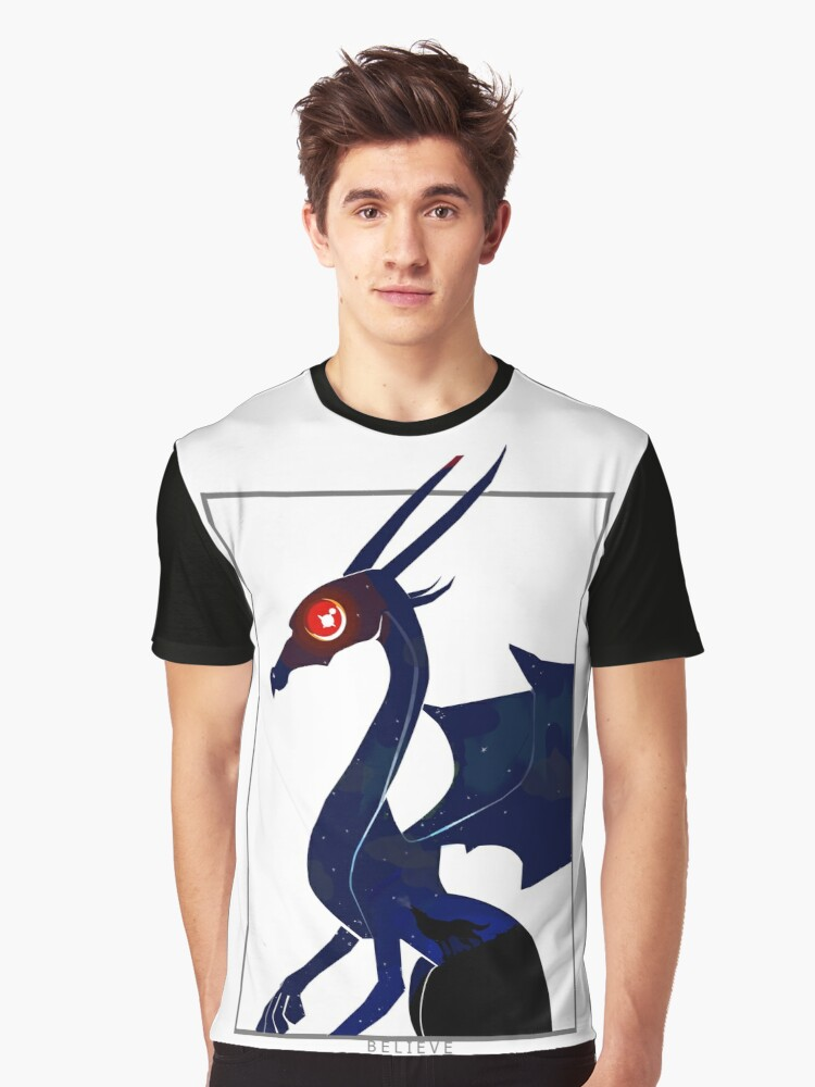 Believe in Dragons, Howl with Wolves Graphic T-Shirt Front