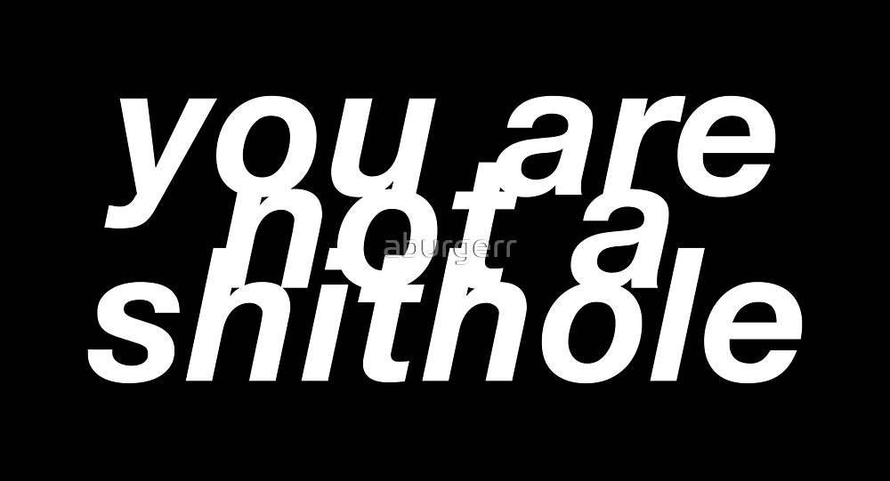 you are not a shithole by aburgerr