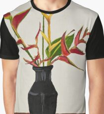 Heliconia in black vase Graphic T-Shirt