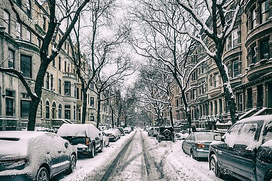 A cold winter in NYC by Roger  Mackertich