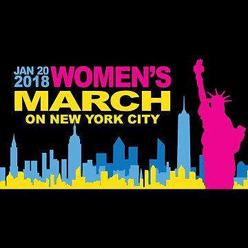 Women March On New York City Merchandise by LeoHagopian