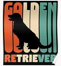 Vintage Golden Retriever T-Shirt Retro Golden Retriever Gift Poster