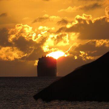Sunset Ship by pda5005