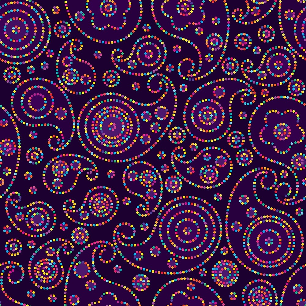 Bright Paisley  by BlueFrogDesign