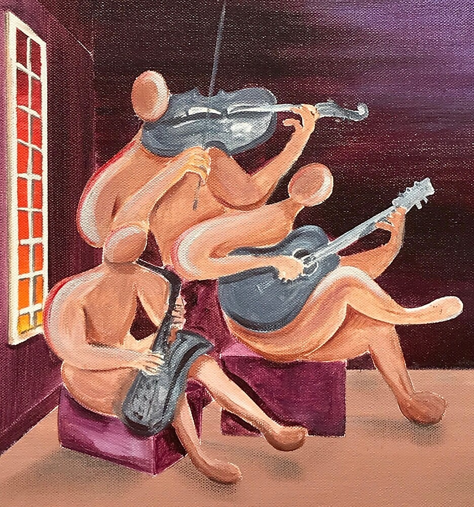 Jazz Trio by Giselle Luske