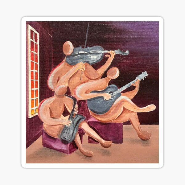 Jazz Trio Sticker