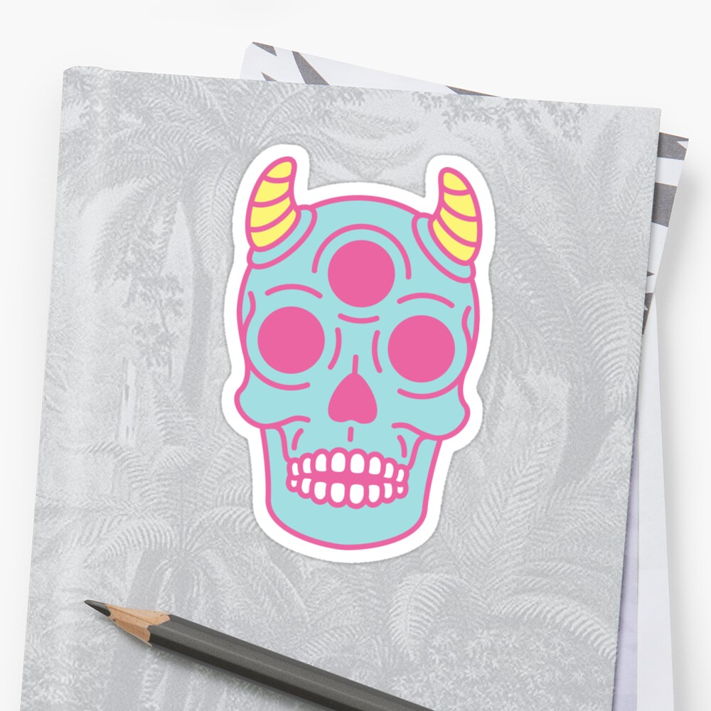 Pastel Skull by rongstate