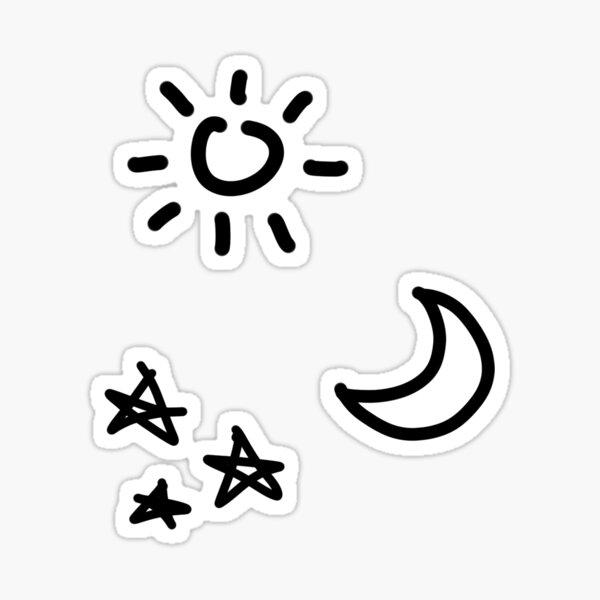 Sun Moon Star Sticker