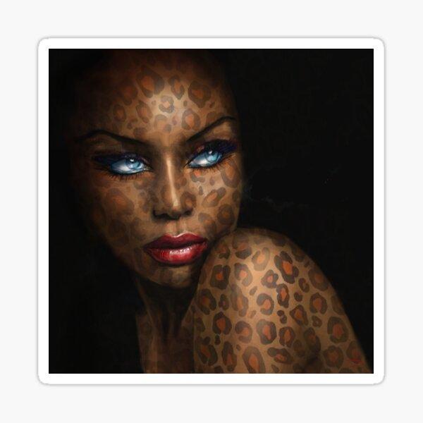 Blue Eyes Leopard Sticker