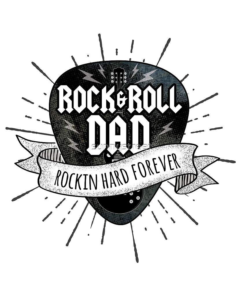 Rock And Roll Dad Grunge Guitar Pick by SunnyStreet
