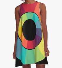Complementary Colour Wheel A-Line Dress