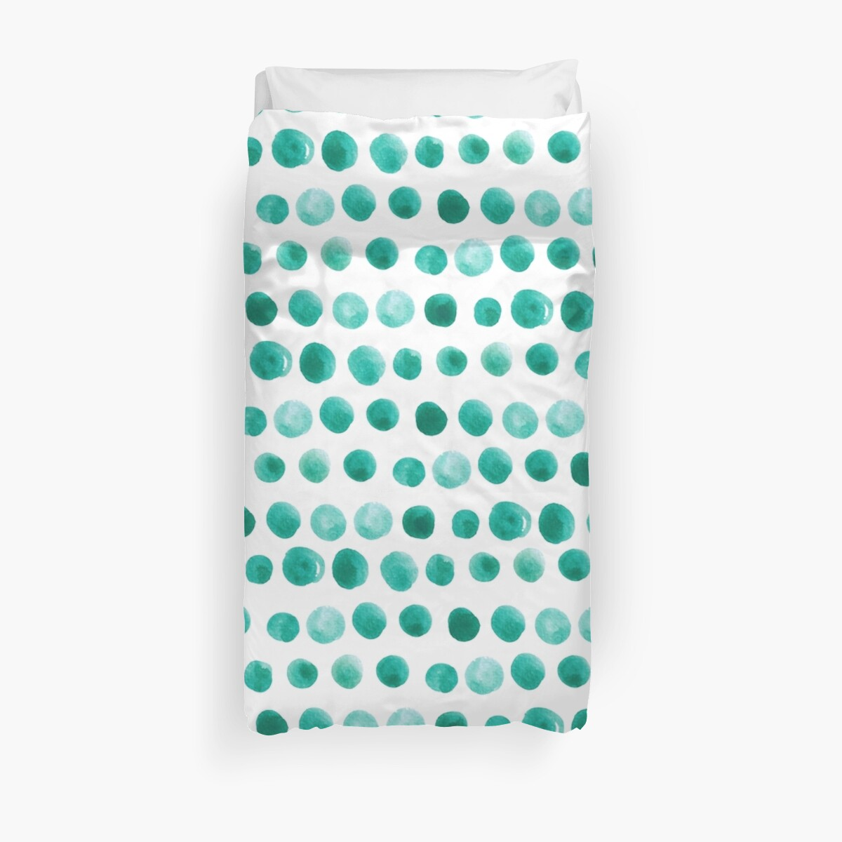 Watercolor green dots pattern by FuzzyLogicKate