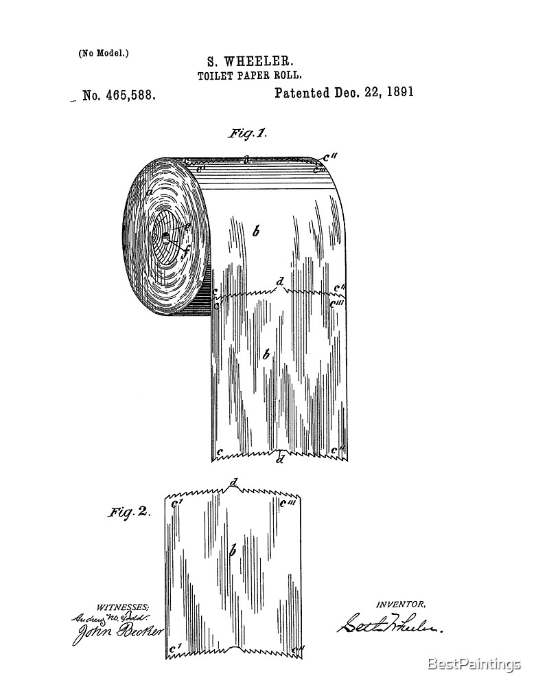 tolilet paper patent by BestPaintings