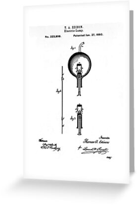 Light bulb Edison patent by BestPaintings