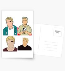 Bobby Lockwood x4 Postcards