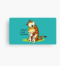 Calvin And Hobbes HUG Canvas Print