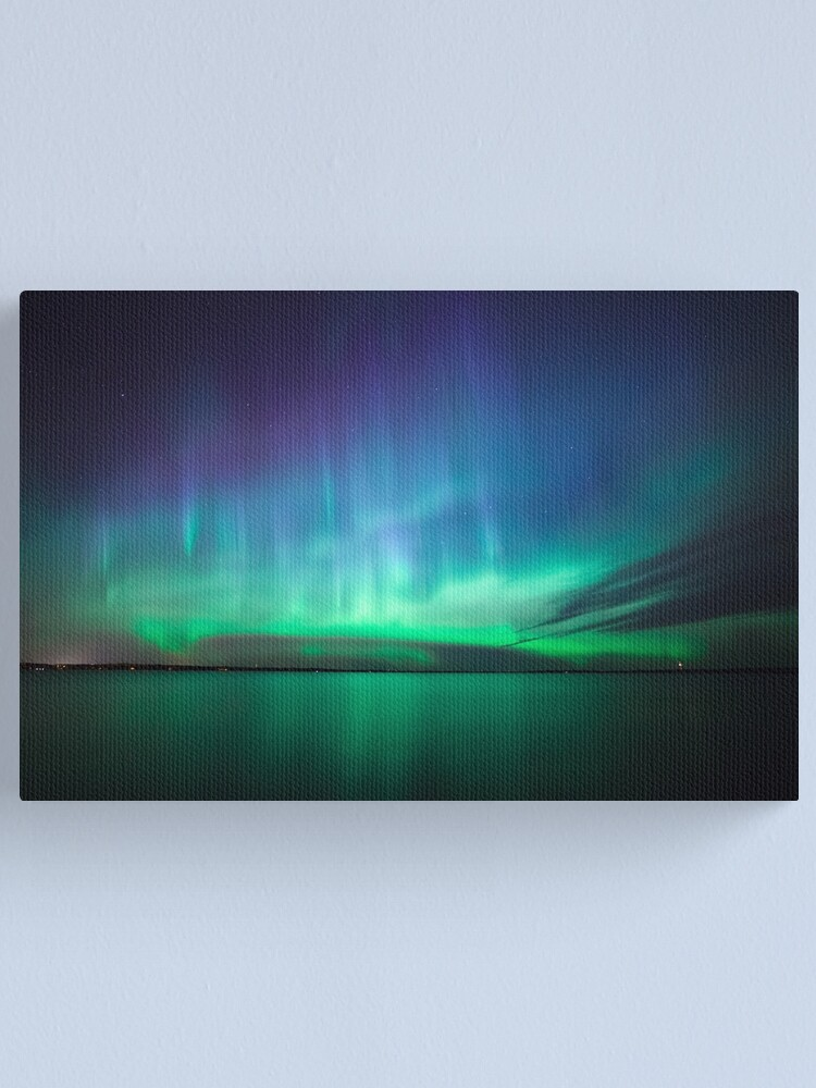 Alternate view of Beautiful northern lights Canvas Print