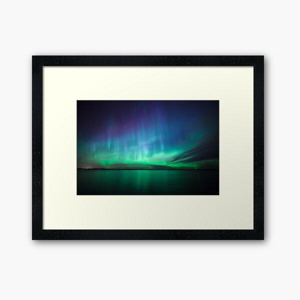 Beautiful northern lights Framed Art Print