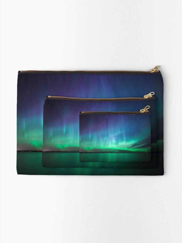 Alternate view of Beautiful northern lights Zipper Pouch