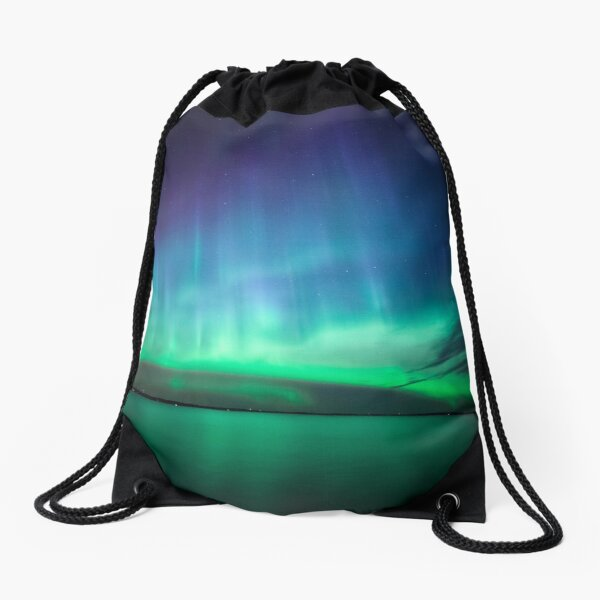 Beautiful northern lights Drawstring Bag