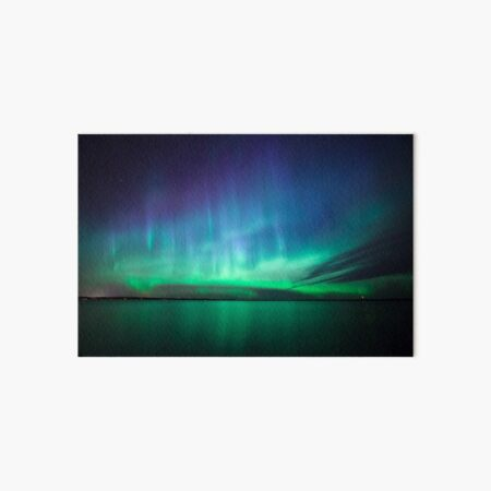 Beautiful northern lights Art Board Print