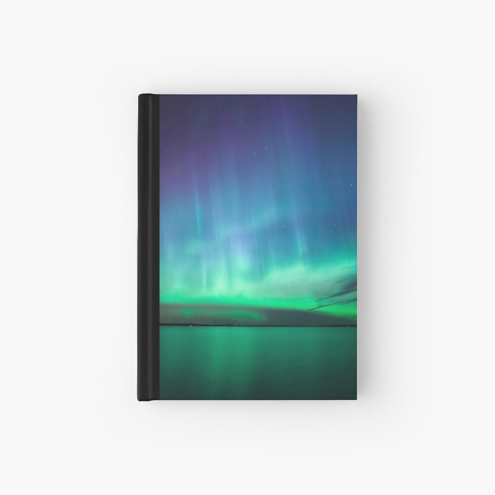 Beautiful northern lights Hardcover Journal