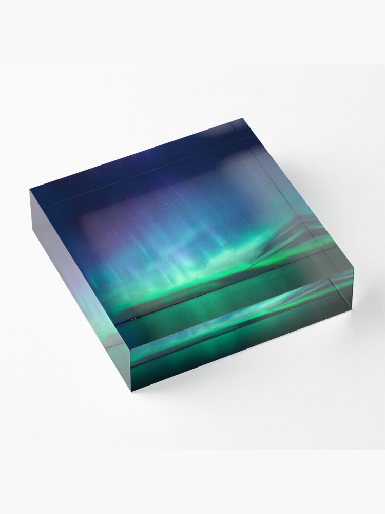 Alternate view of Beautiful northern lights Acrylic Block