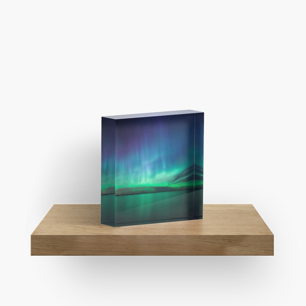 Beautiful northern lights Acrylic Block