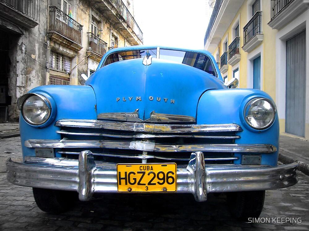 BLUE CAR by SIMON KEEPING