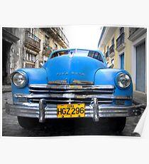 BLUE CAR Poster