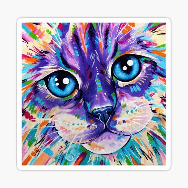 Cats in Color 1 - Ragdoll Cat Sticker