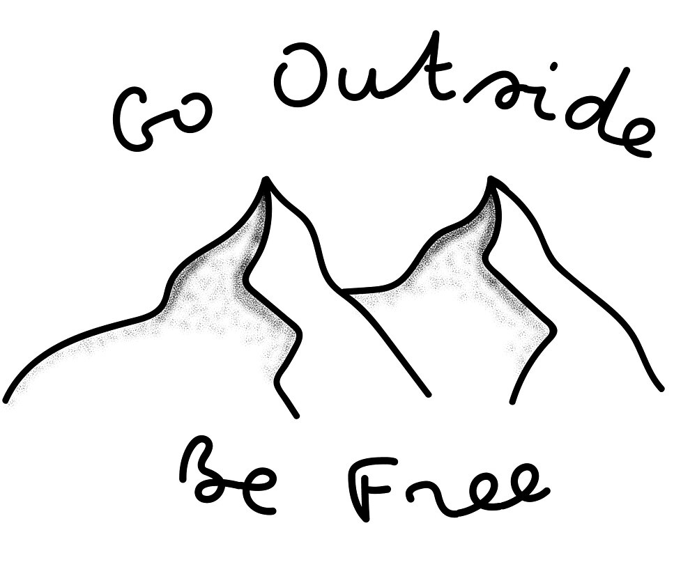 Go Outside Be Free Mountain Design by caseywinckler